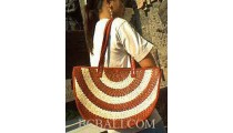 Oval Pandanus Handmade Bags