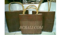 Shopping Straw Bags Set 3
