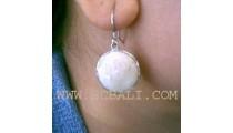 Organic Seashell Silver Earrings