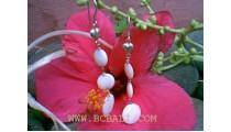 Silver Earrings Ocean Seashell