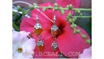 Amethyst Silver Earring
