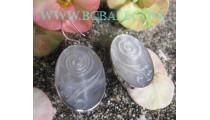 Jewelry Silver Earrings Shell