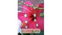 Silver Pearls Earring