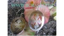 Sterling Silver Earrings Seashells