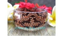 Bangle With Batik Resin