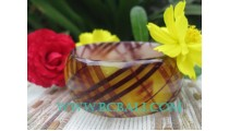 Clear Printed Resin Bangles