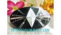 Black Shell Carving Hair Clip