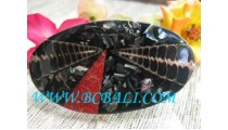 Black Shell Resin Hair Jewelry,