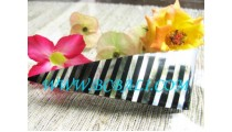 Black Strip Shell Resin Hair Clip