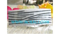 Black Stripe Shell Resin