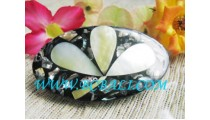Cute Shell Leave Motif Barrettes