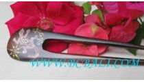 Painted Wooden Hair Stick