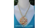 Large Pendants Seed Bead Necklace