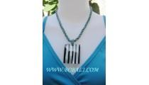Lurex Pendants Bead Necklaces