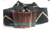 Black Coconut Woods Belts