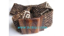 Natural Coconut Beads Belts