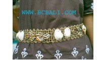 Straw Belt With Sea Shell