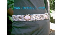 Woman Bead Shell Belt