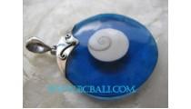 Blue Shiva Resin Shell Pendant