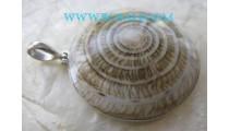 Ethnic Shells Pendant Silver