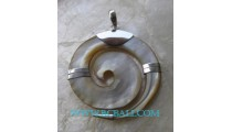 Handmade Shell Silver Pendant
