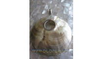 Ocean Sea Shell Pendant Silver
