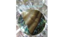 Paua Shells Pendant Silver