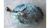 Pendant Silver Paua Shell