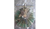 Resin Shell Pendant Silver