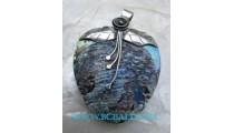 Sea Shell Paua Pendant Silver