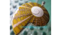 Shell Shiva Pendant Silver