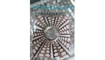 Square Pendant Silver Shell