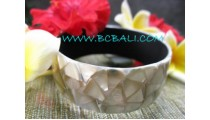 Bali Shells Bangle Resin Shine