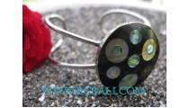 Bangle Steel Shell Paua
