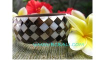 Bangles Resin Shells Black White