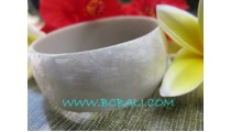 Bangles Resin White Shells