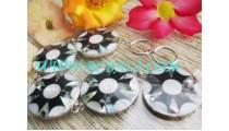Black Flower Sea Shell Brecelets