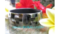 Black Seashells Resin Bracelets