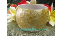 Large Yellow Shell Bangles