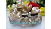 Natural Shell Bead Bracelet
