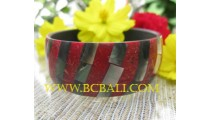 Resin Bangle Red Coral