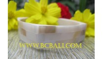Square Shell Pearl Resin Bangles