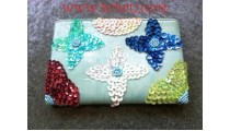Multi Color Beads Purses