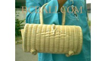 Handbags Rattan Drum