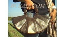 Leather Rattan Handbags