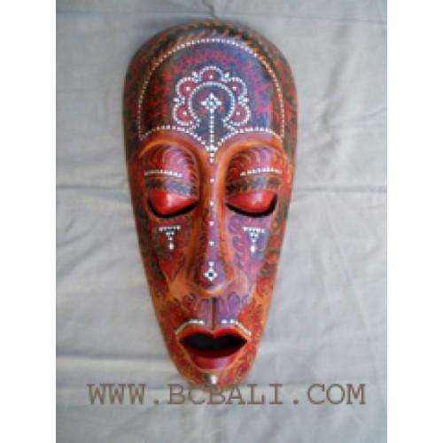 Lombok Mask Wood Tribal Mask Handcrafted Primitive Mask