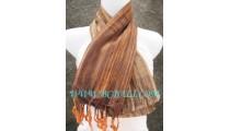 balinese scarves handmade brown color long