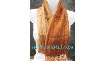 bali scarf handmade design dark orange