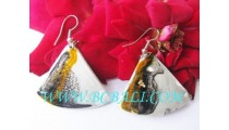 AirBrush Painted Woods Earring