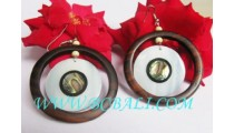 Causal Woods Earring Design Seashells